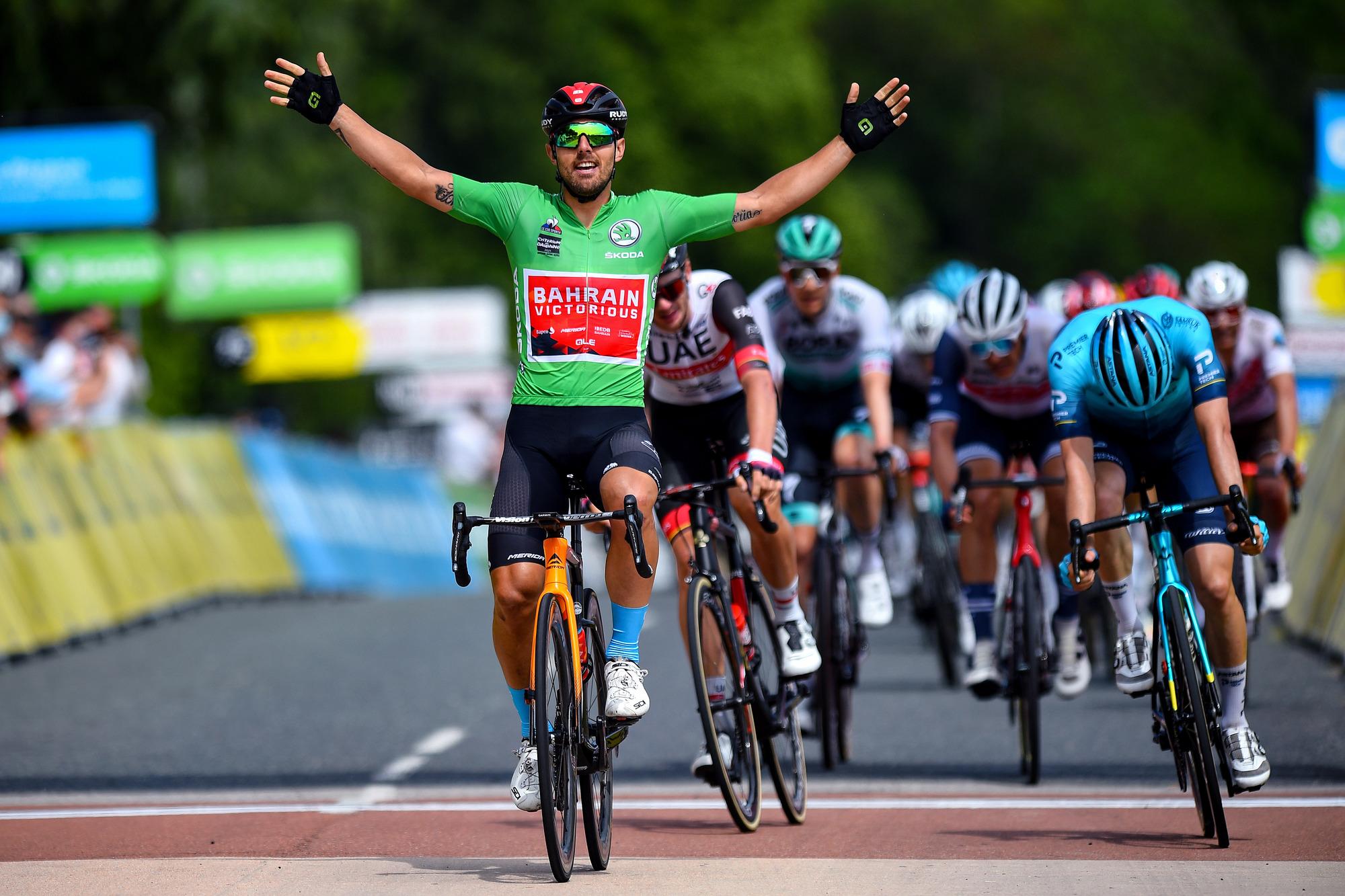 ドーフィネのステージ3でコルブレッリが勝利を飾る